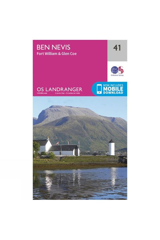 Ordnance Survey Ben Nevis, Fort William and Glen Coe V16