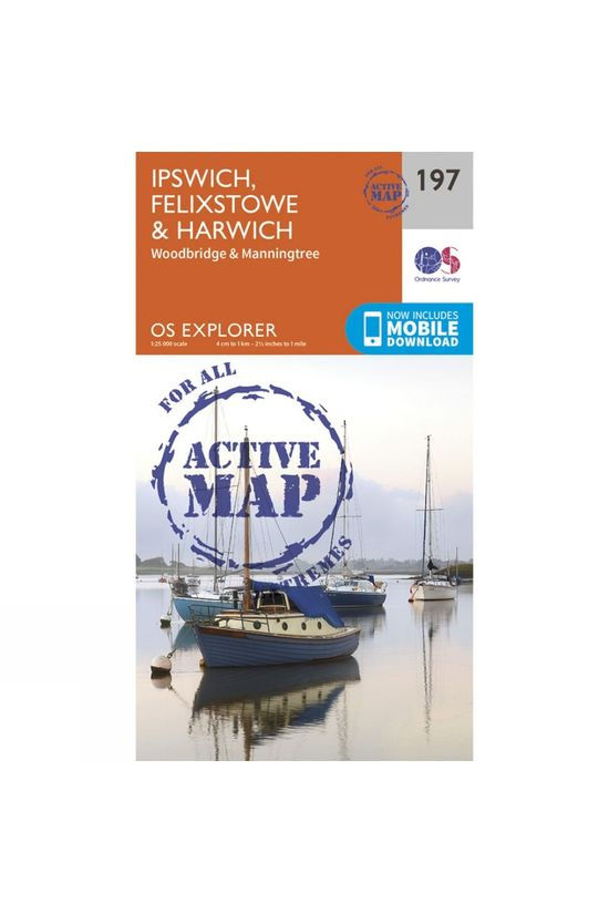 Ordnance Survey Active Explorer Map 197 Ipswich, Felixstowe and Harwich V15