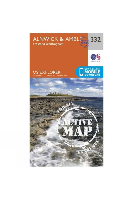 Ordnance Survey Active Explorer Map 332 Alnwick and Amble V15