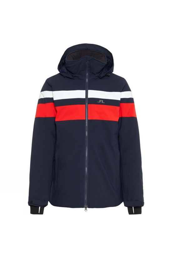 J.Lindeberg Mens Franklin 2L Ski Jacket Navy/White/Racing Red