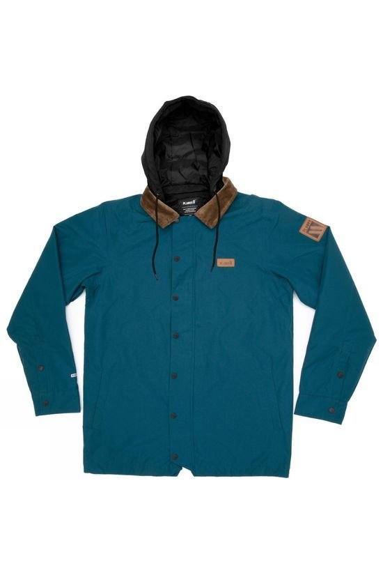 Planks Men's Throw-Down Collared Jacket Ocean Blue