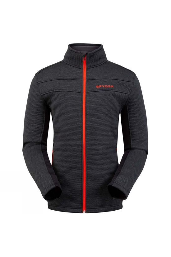 Spyder Mens Encore Full Zip Fleece Jacket Black
