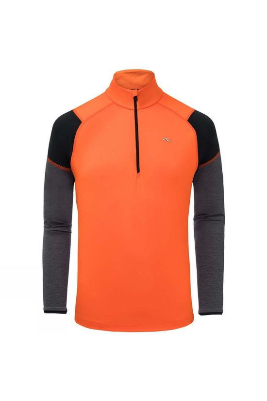 KJUS Race Half-Zip Kjus Orange- Steel Grey Melange