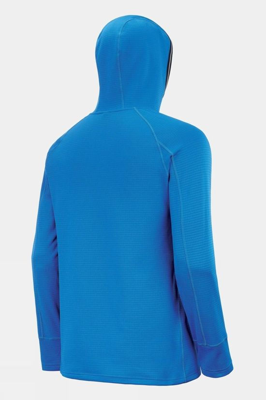 Picture Men's Bake Grid Fleece Hoodie Picture Blue