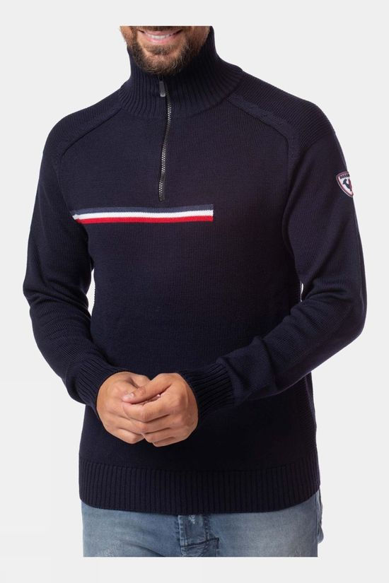 Rossignol Mens Major 1/2 Zip Midlayer Dark Navy