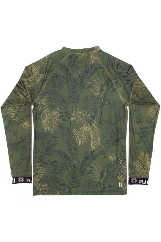Planks Men's Fall-Line Base Layer Top Jungle Palm
