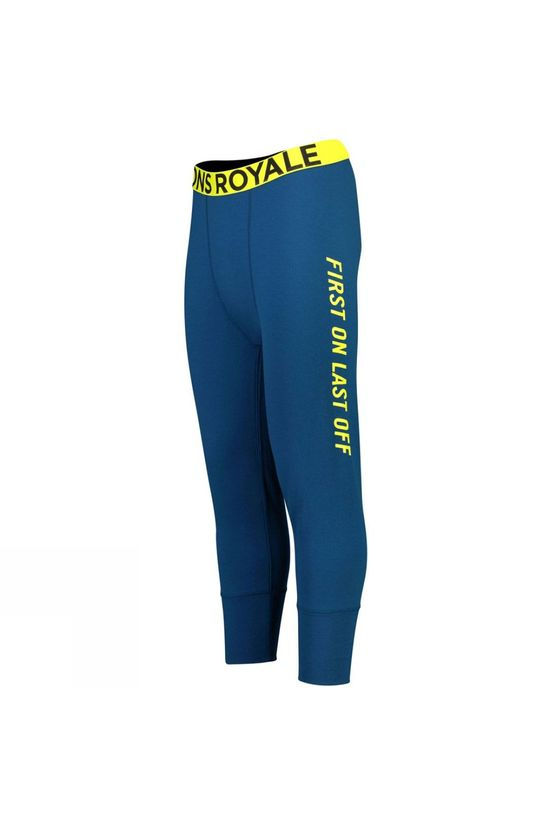 Mons Royale Mens Shaun-Off 3/4 Legging Oily Blue