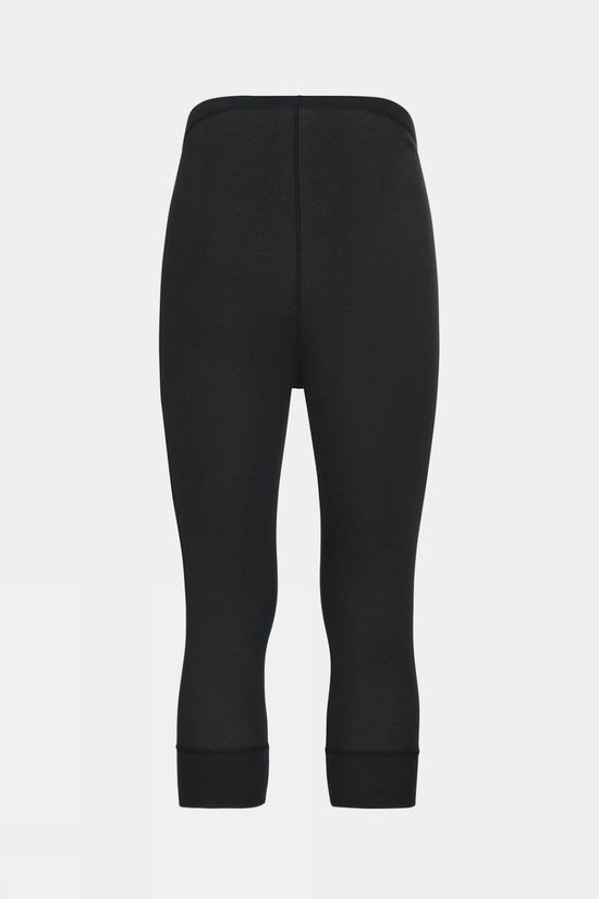 Odlo Mens Active Warm Eco 3/4 Baselayer Pant Black