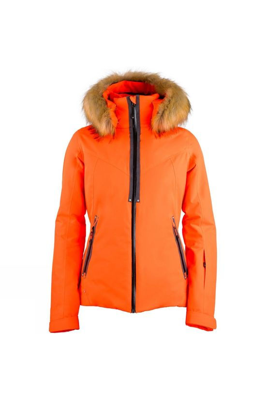 Degre 7 Womens Faux Fur Geod Jacket Magma