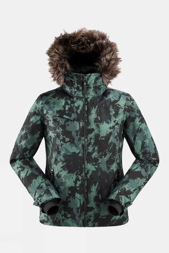 Eider Womens The Rocks Print Jacket Dark Green Camo