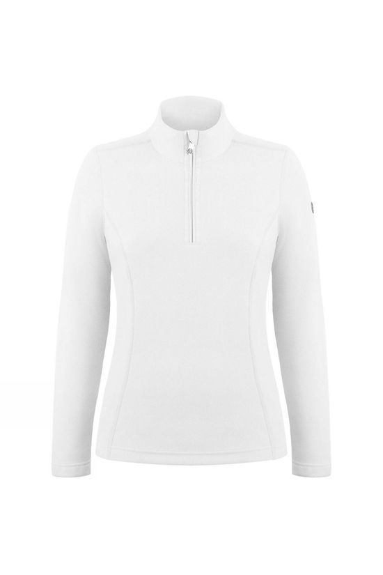 Poivre Blanc Womens Sacha Fleece 1/4 Zip Sweater White