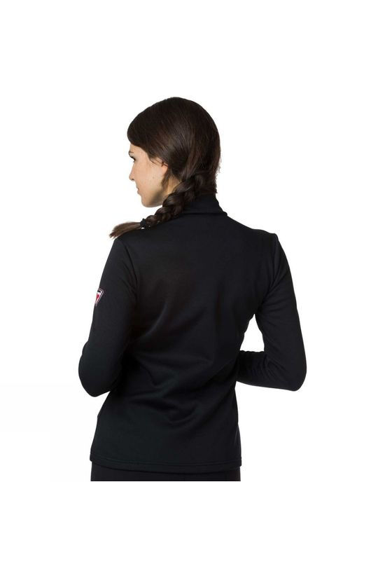 Rossignol Womens Stripes 1/2 Zip Midlayer Black