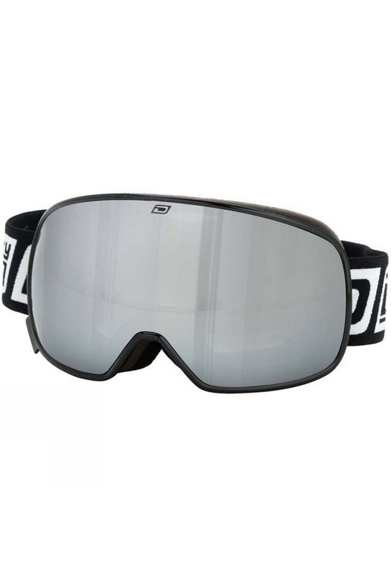 Dirty Dog Mens Mutant 0.5 Goggles Black/ Silver Mirror and Yellow Multi
