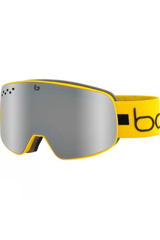 Bolle Mens Nevada Goggle Matte Yellow Line / Black Chrome