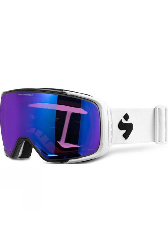 Sweet Protection Interstellar BLI Goggle Satin White w. RIG Sapphire & RIG Amethyst