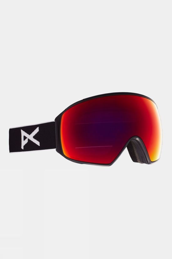 Anon Men's M4 Goggle Toric (Spare Lens Included) Black / Perceive Sunny Red & Cloudy Burst
