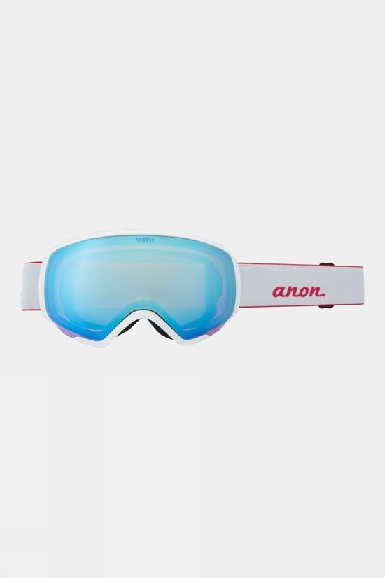 Anon Womens WM1 Goggle (Spare Lens Included) Pearl White / Perceive Cloudy Pink & Variable Blue