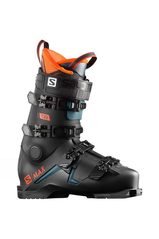 Salomon Mens S/Max 120 Ski Boots Black /  / Orange