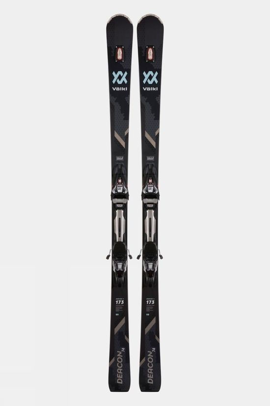 Volkl Men's Deacon 74 Skis With rMotion2 12 GW Binding Black