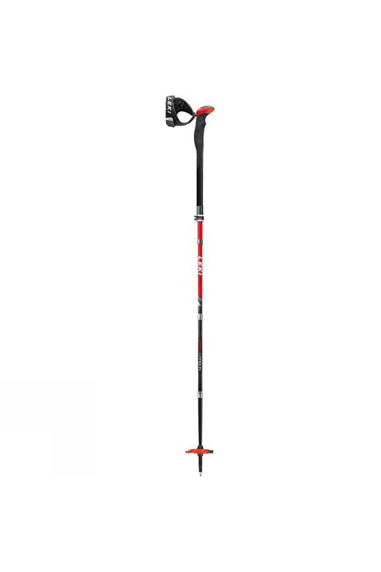 Leki Mens Tour Stick Vario Carbon Pole Red / Black