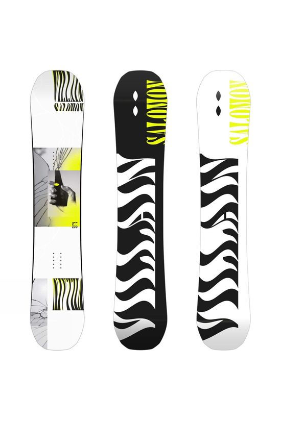Salomon Mens The Villain Snowboard White / Yellow