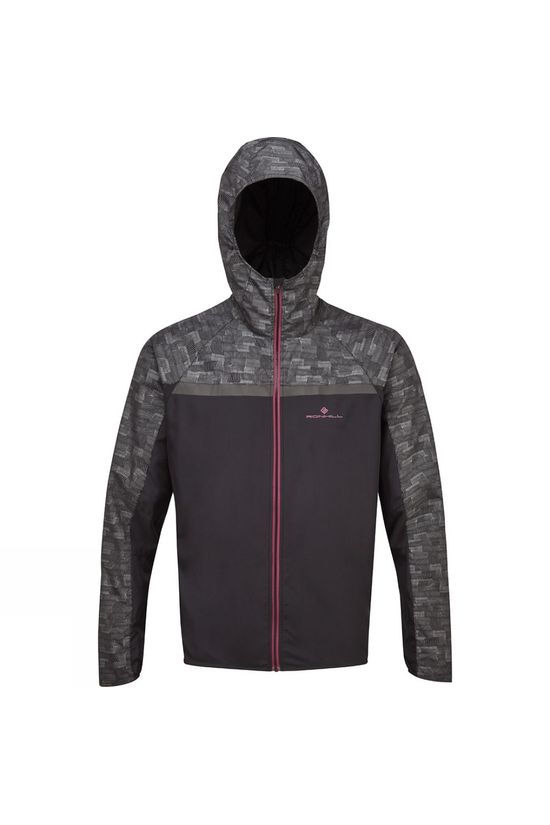 Ronhill Men's Momentum Afterlight Jacket 2019 Black/Mulberry