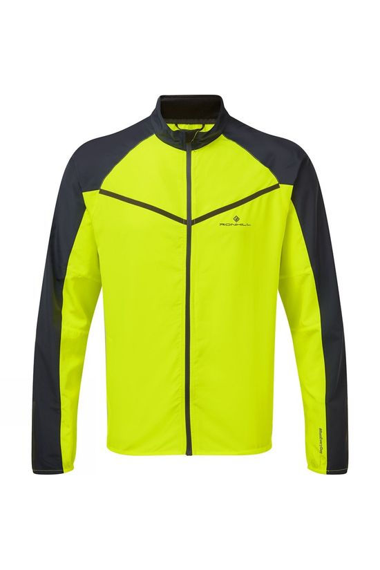 Ronhill Mens Stride Windspeed Jacket Bright Fluo Yellow/Charcoal
