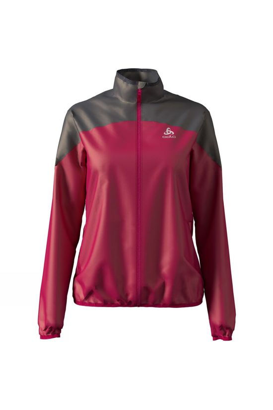 Odlo Womens Element Light Jacket Cerise - Odlo Graphite Grey