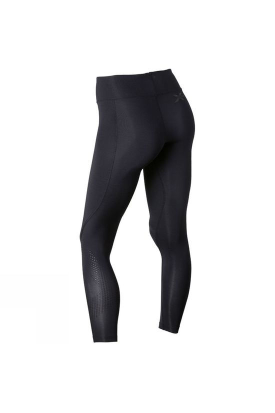 2XU Women's Mid-Rise Compression Tights Black/Dotted Black Logo