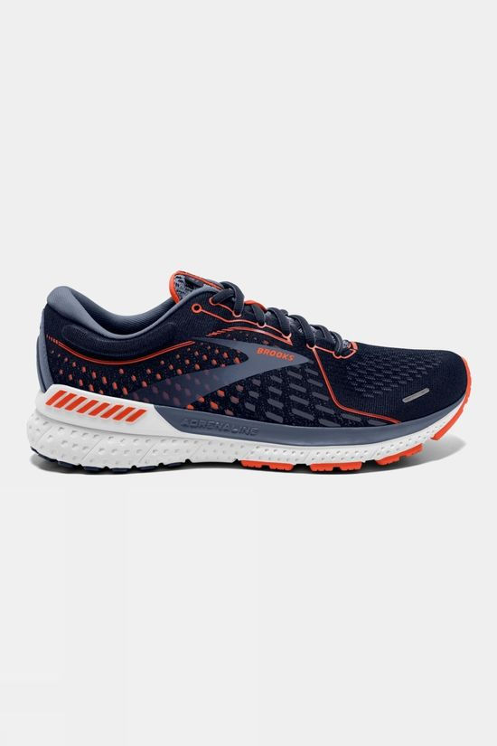 Brooks Men's Adrenaline GTS 21 Navy/Red Clay/Gray