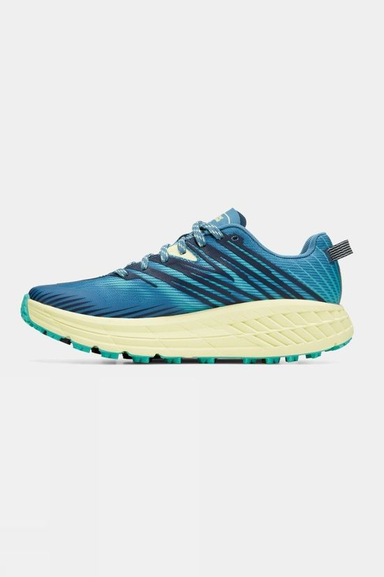 Hoka One One Womens Speedgoat 4 Provincial Blue/ Luminary Green