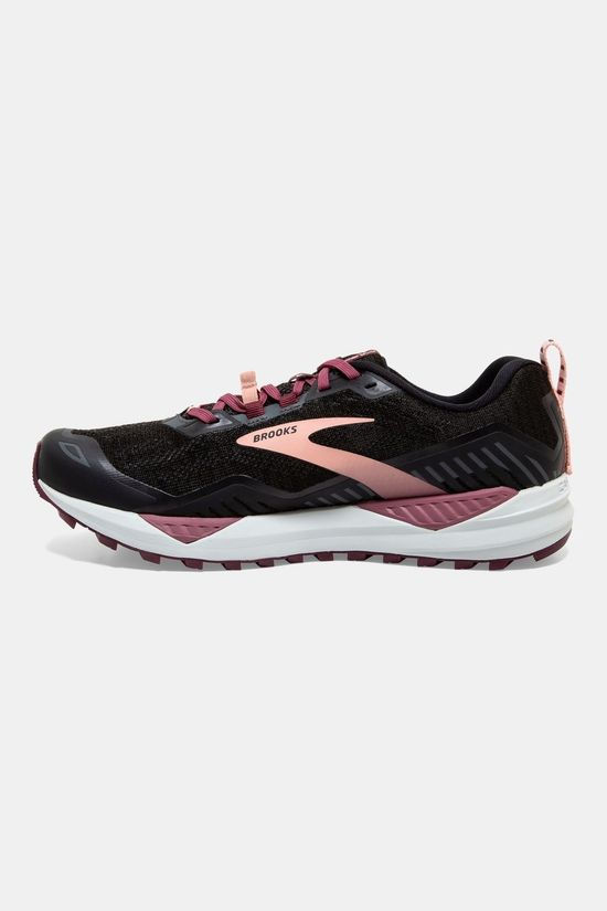 Brooks Womens Cascadia 15 Black/Ebony/Coral Cloud