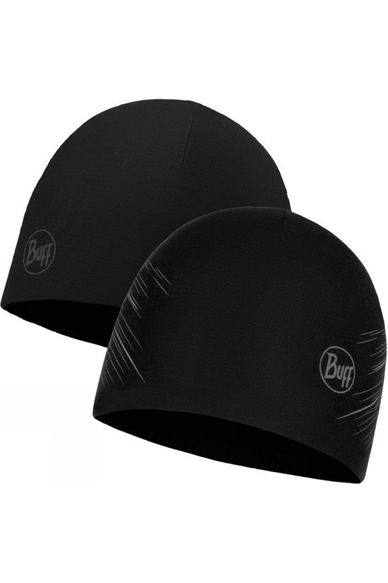 Buff Mens Microfibre Reversible Hat Black Embers Black