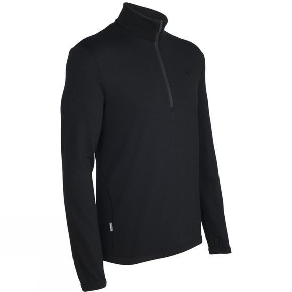 Icebreaker Men's Original 320 Long Sleeve Half Zip Black