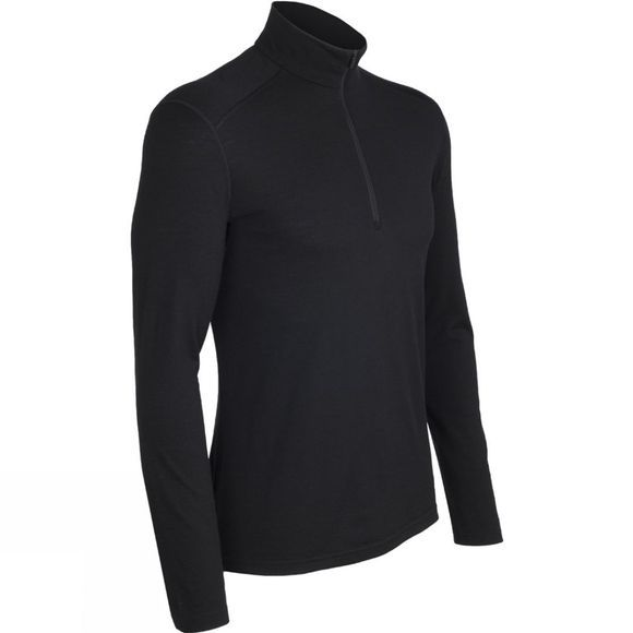 Icebreaker Men's Oasis 200 Long Sleeve Half Zip Black