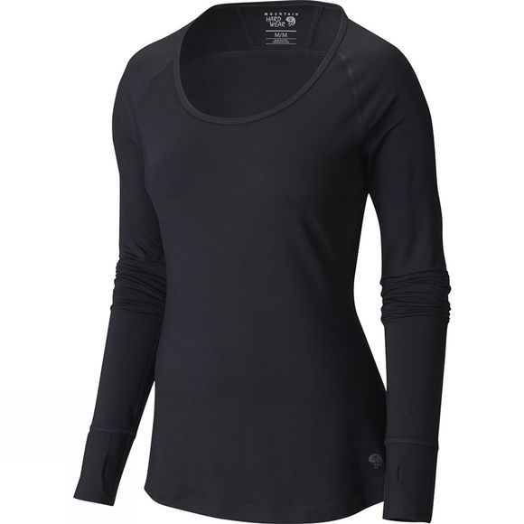 Mountain Hardwear Women's Butterlicious Long Sleeve Crew Black