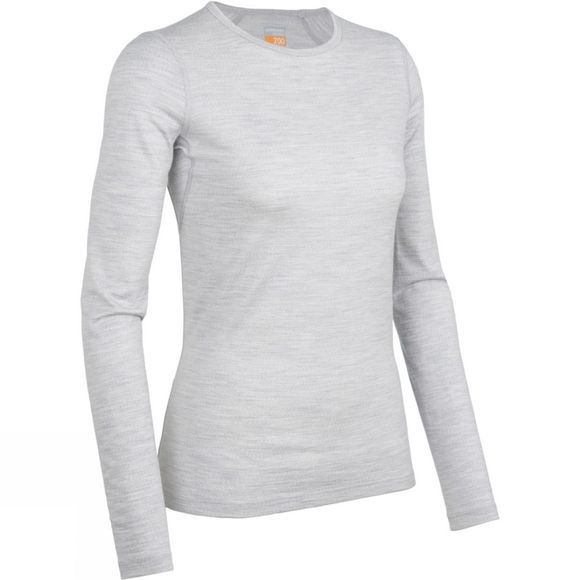 Icebreaker Women's Oasis Long Sleeve Crewe Blizzard