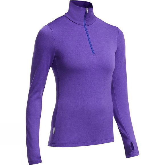 Icebreaker Women's Tech 260 Long Sleeve Half Zip Lupin