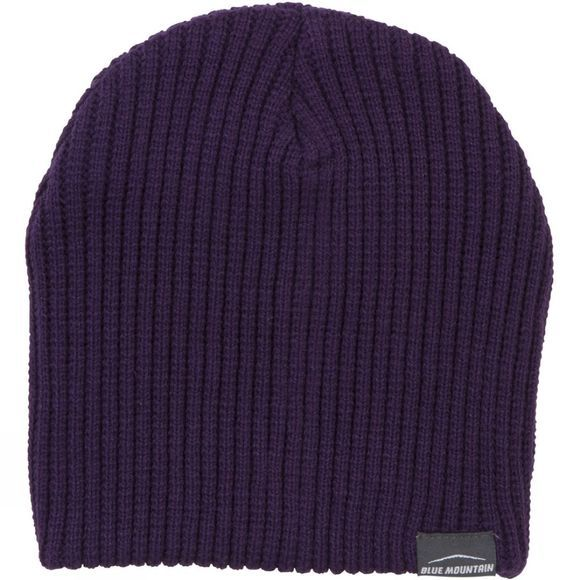 Blue Mountain Womens Ribbed Hat Purple Velvet