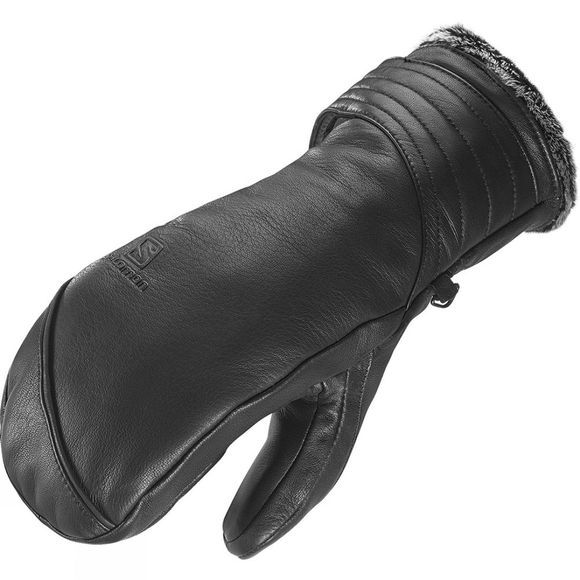 Salomon Women's Native Leather Ski & Snowboard Mitt Black / Grey Lining