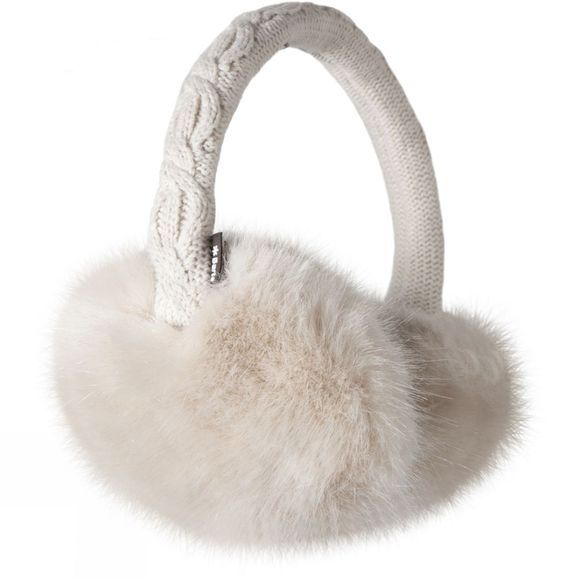 Barts Faux Fur Earmuffs White