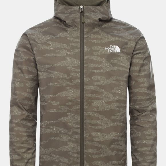 The North Face Men's Quest Jacket New Taupe Green Dewdrop 2 Print