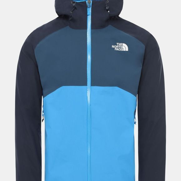 The North Face Men's Stratos Jacket Clear Lake Blue-Urban Navy-Blue Wing Teal