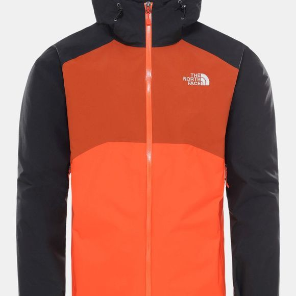 The North Face Men's Stratos Jacket Acrylic Orange/TNF Black/Picante Red