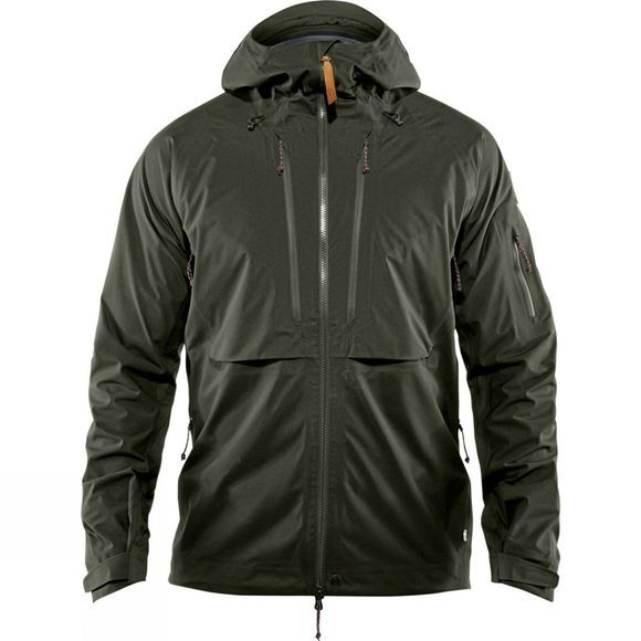 Fjallraven Mens Keb Eco-Shell Jacket Deep Forest