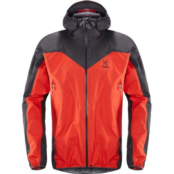 Haglofs Mens L.I.M Comp Jacket  Pop Red / Slate