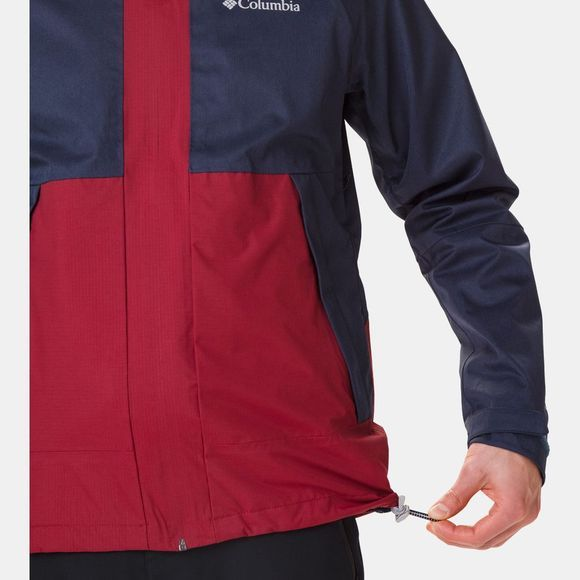 Columbia Mens Evolution Valley Jacket Collegiate Navy Heather/Red Jasper