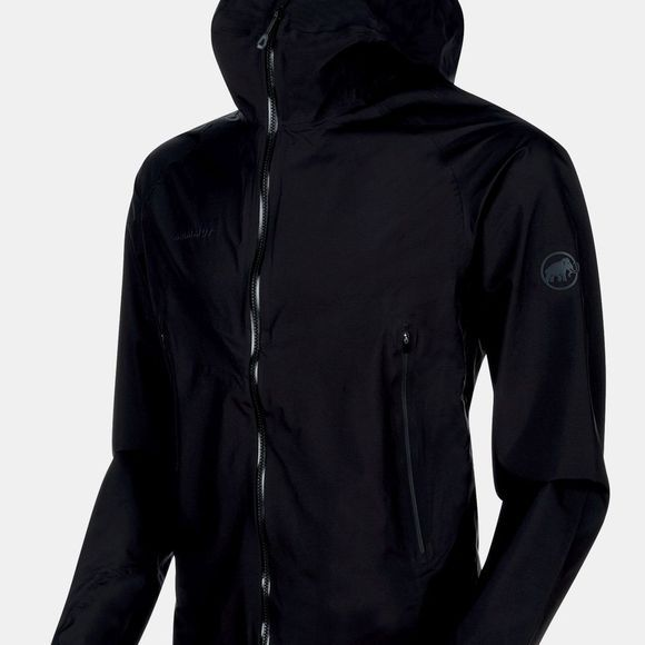 Mammut Mens Masao Light HS Hooded Jacket Black/Phantom
