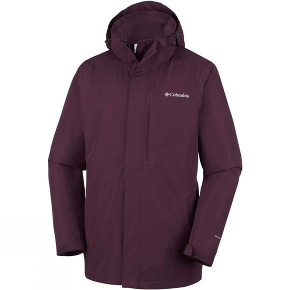 Columbia Mens Forest Park Jacket Dark Merlot