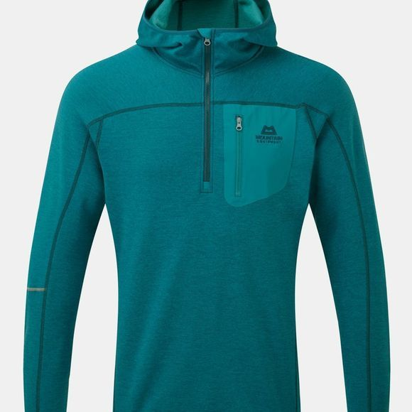 Mountain Equipment Mens Integrity Hooded Zip-T Tasman Blue